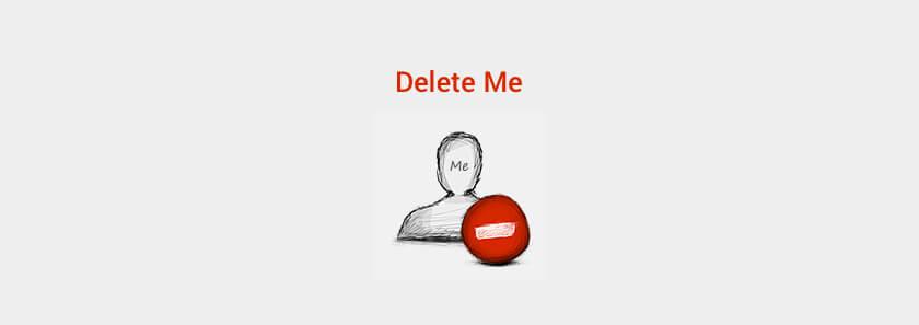 Delete Me GDPR Compliant Plugin