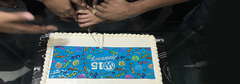 Staffs of CodeRex are having fun in WordPress's 15th Birthday this year.