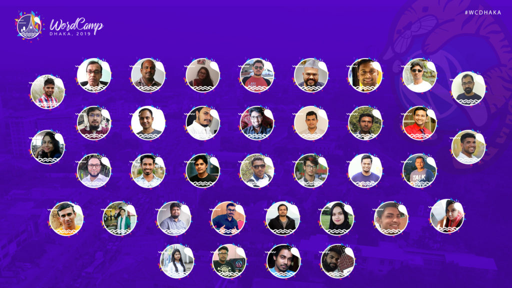 All volunteers at WordCamp Dhaka 2019